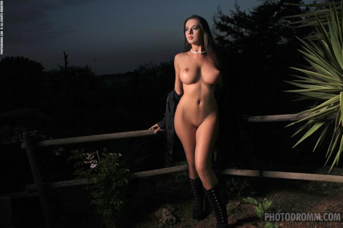Winona Big Tits Dark Boots in the Dark