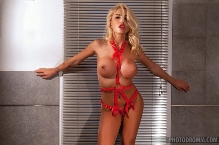 Brigitta Big Boobs Blonde Tanned Body