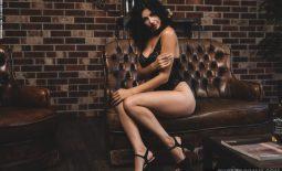 Nadine Big Tits in Sparkly Black  for Photodromm