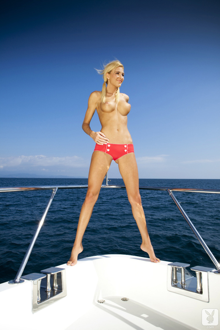 Eliza Carson Big Tits Playboy Blonde on a Boat