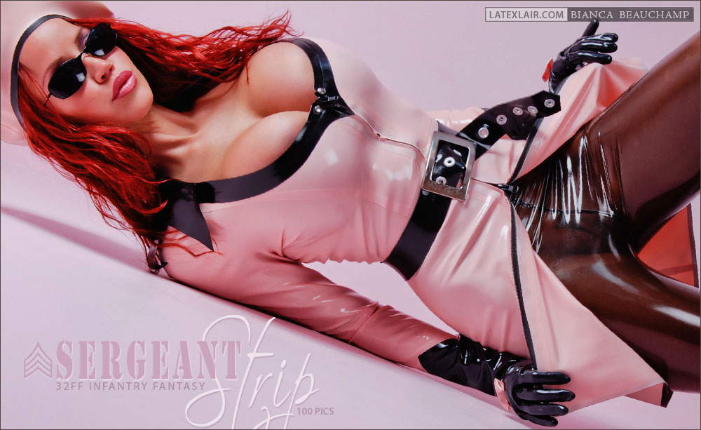 Bianca Beauchamp  Huge Tits Pink and Black Rubber Outfits