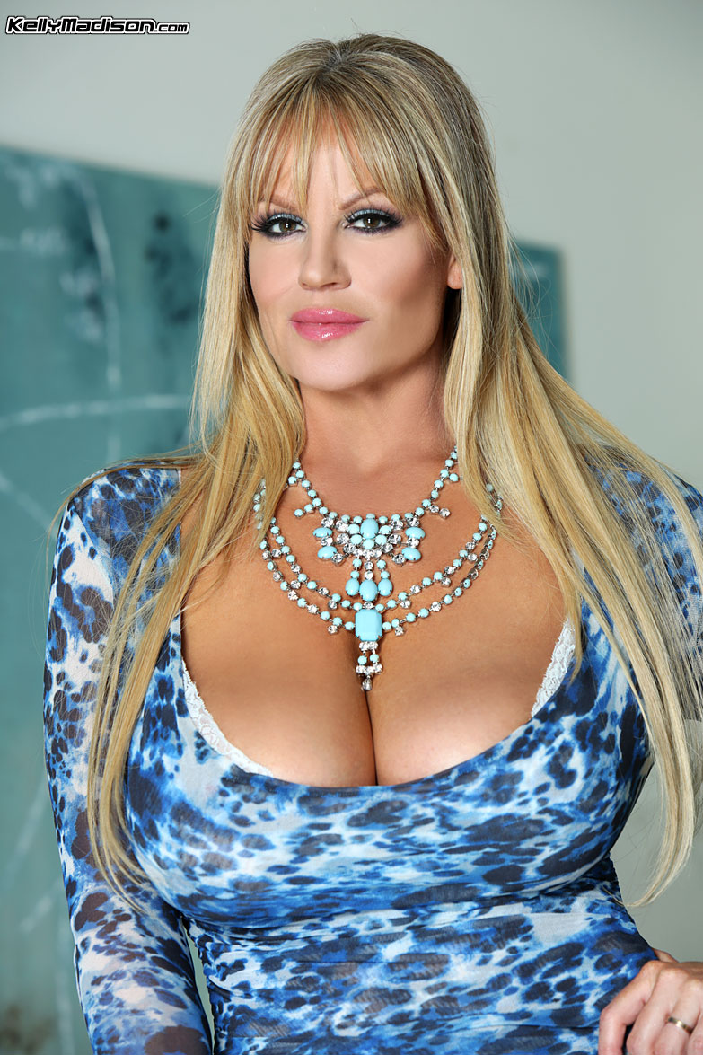 Kelly Madison Huge Tits Blue Minidress