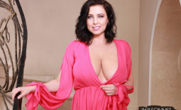 Ewa Sonnet Huge Tits Look Fantastic in Pink Dress