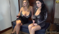 Ewa Sonnet and Vivian Blush Huge Tits in Tight Sparkly Dresses