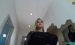 Vivian Blush Fantastically Huge Tits in Black Bra