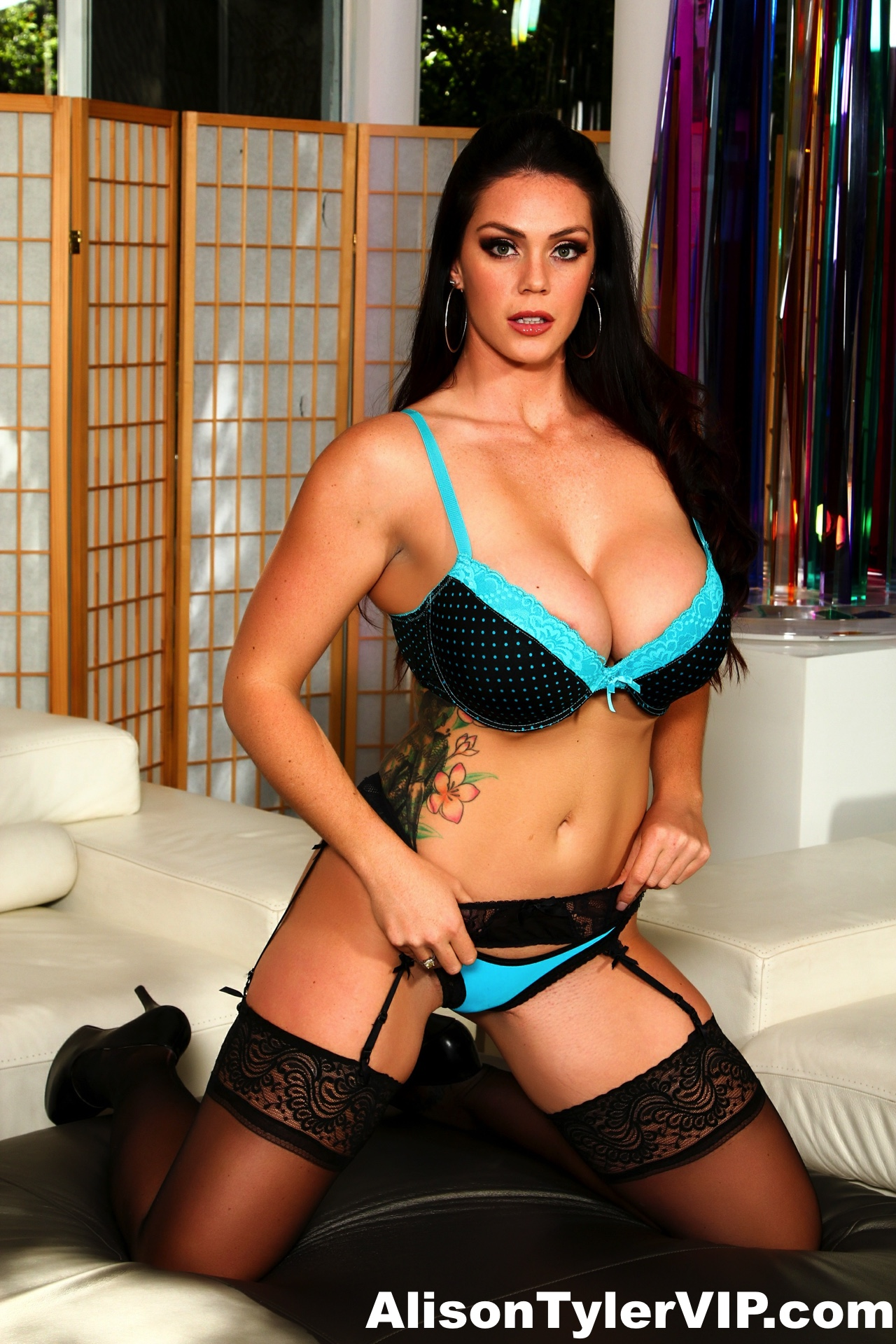 Alison Tyler Huge Tits Sexy Stockings and Heels