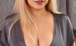 Emma Rachael Huge Boobs in Silky Lingerie