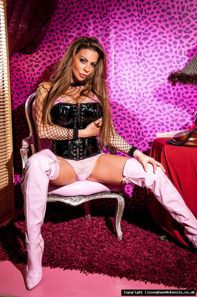 Linsey Dawn McKenzie Huge Tits and Pink Thigh High Boots