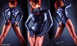 Bianca Beauchamp Huge Tits in Black Latex Body