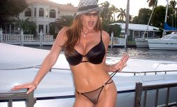 Kelly Madison Huge Tits Getting on a Boat