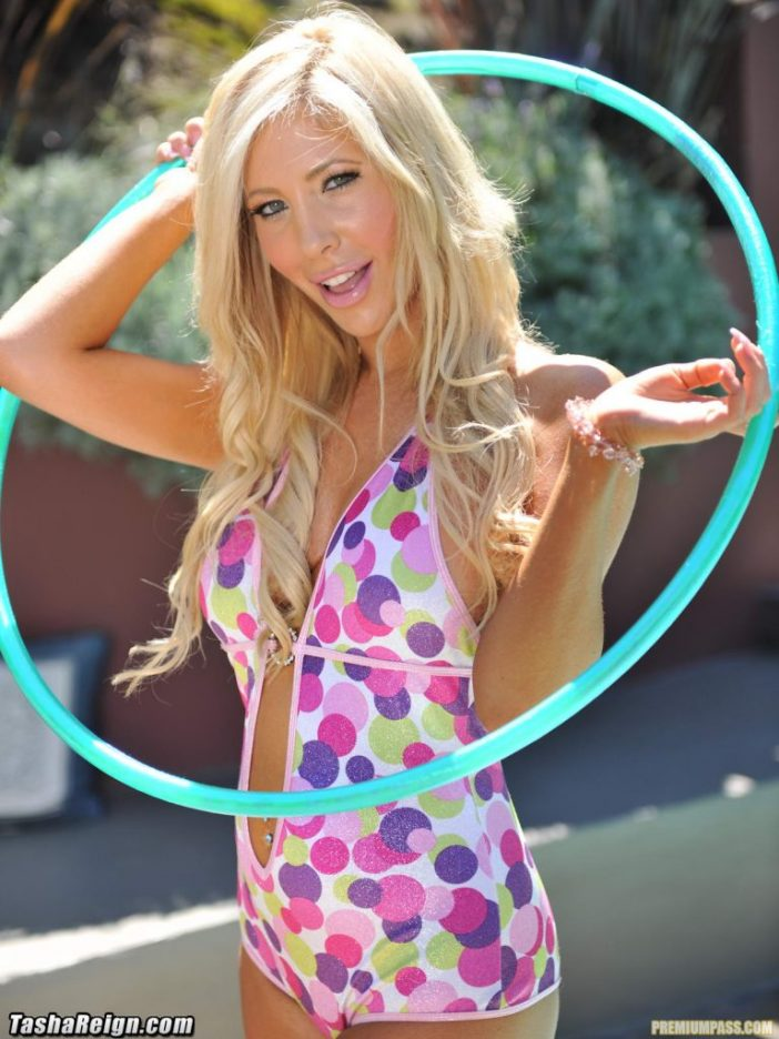 Tasha Reign Big Tits Blonde at the Pool