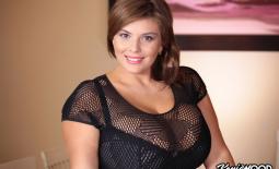 Xenia Wood Huge Tits in Mesh Shirt