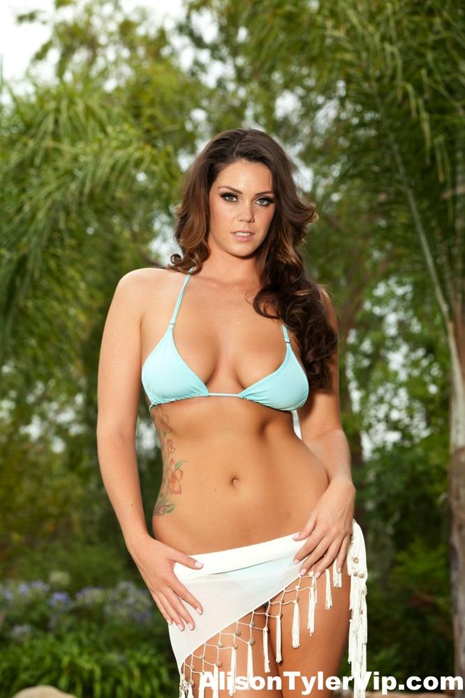Alison Tyler Big Tits in Turquoise Bikini