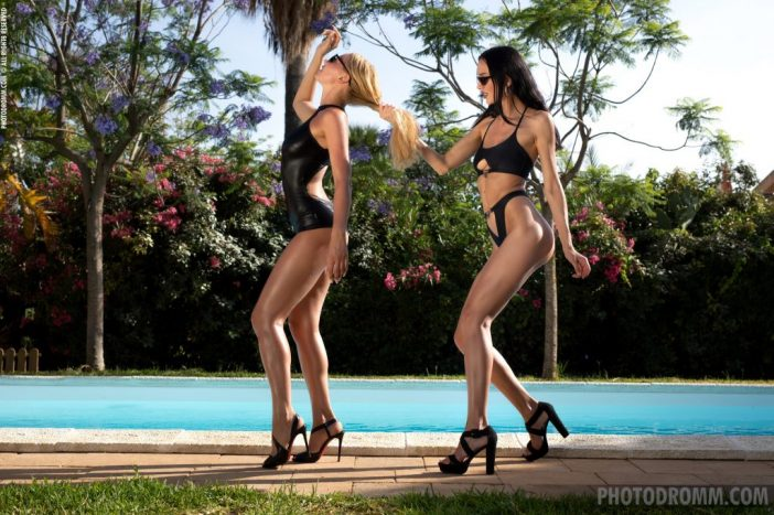 Fabiana and Anastasya Get naked Tits at the Pool for Photodromm