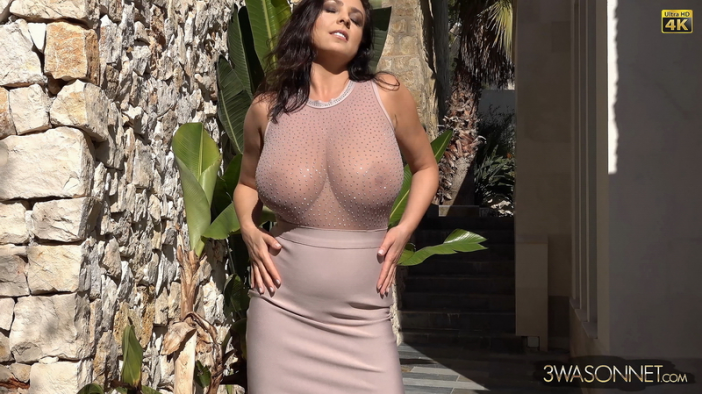 Ewa Sonnet Huge Tits and Tight Skirt