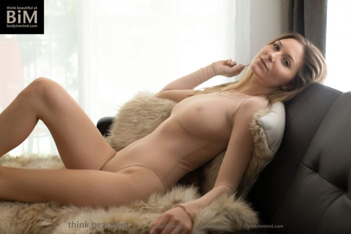 Katie Darling Big TIt Blonde Babe on a Sofa for Body in Mind