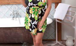Katie Thornton Huge Tits in Floral Print Dress