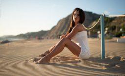 Rachel Perky Tits on the Sand for Photodromm