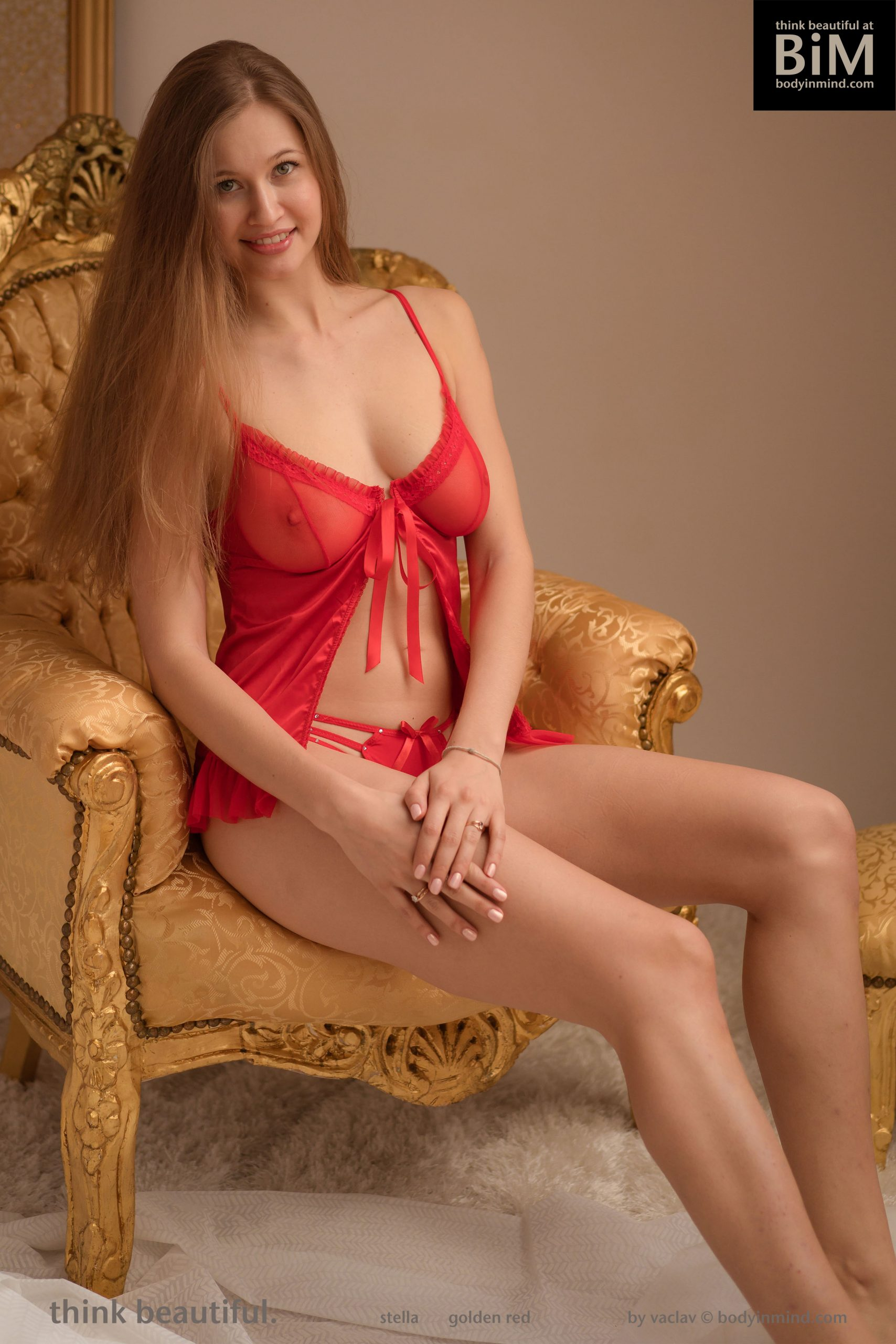 Stella Cardo Big Tit Redhead with Sexy Red Lingerie for Body in Mind