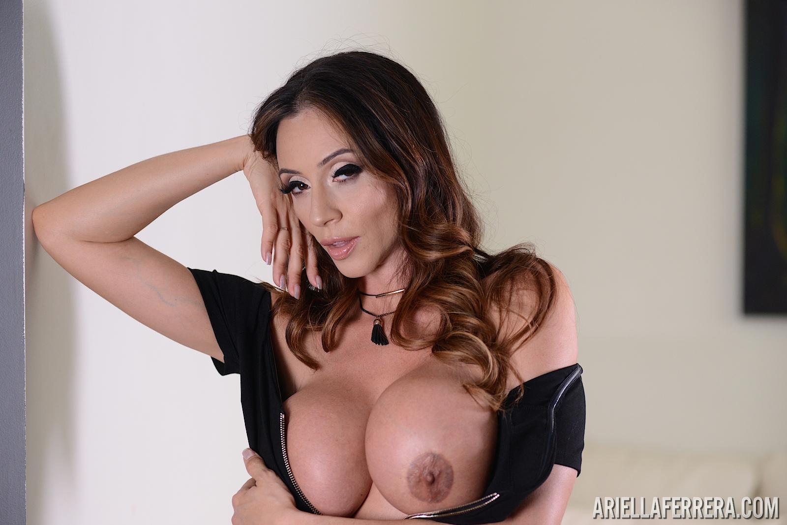 Ariella Ferrera Big Tis not in a Little Black Dress