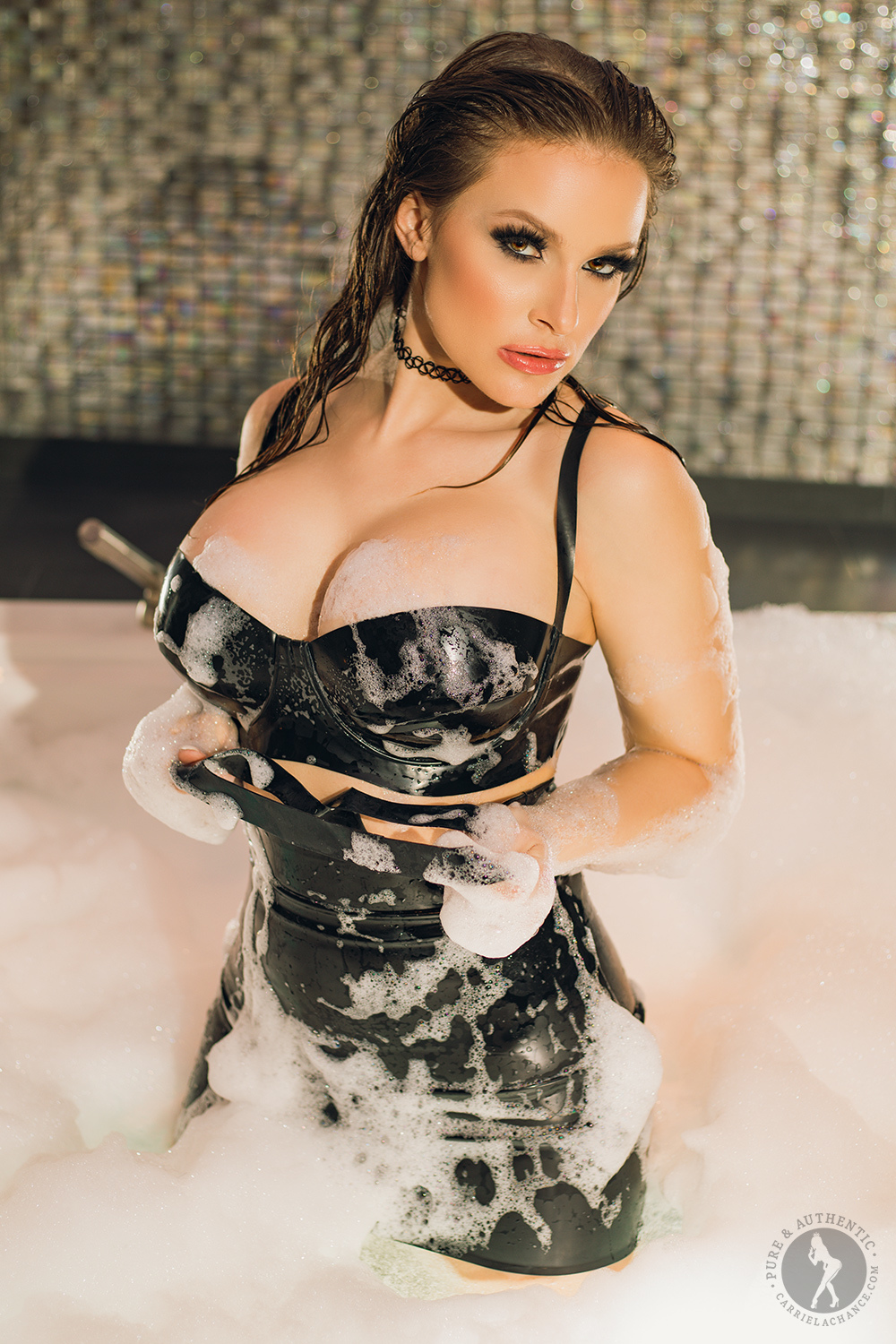 Carrie Lachance Huge Tits in Some Tight Latex Outfits