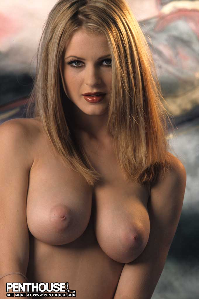 Chantelle Fontaine Big Tit Blonde in Fishnets for Penthouse