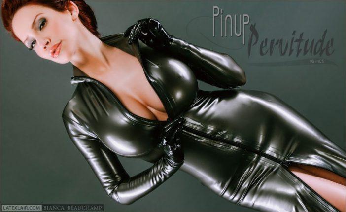 Bianca Beauchamp Huge Tits in Tight Latex Minidress