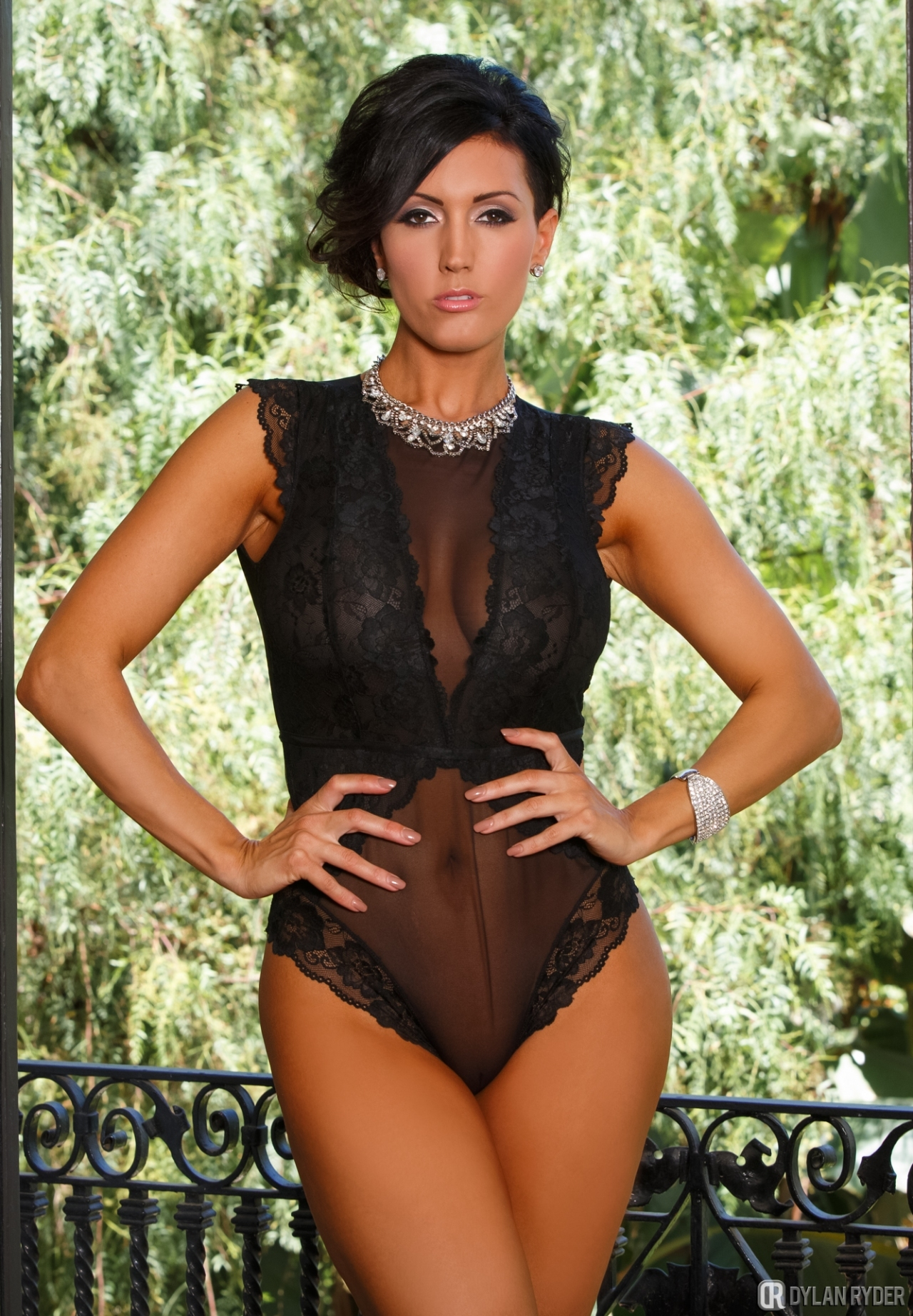 Dylan Ryder Big Tits in Black Lacy Lingerie