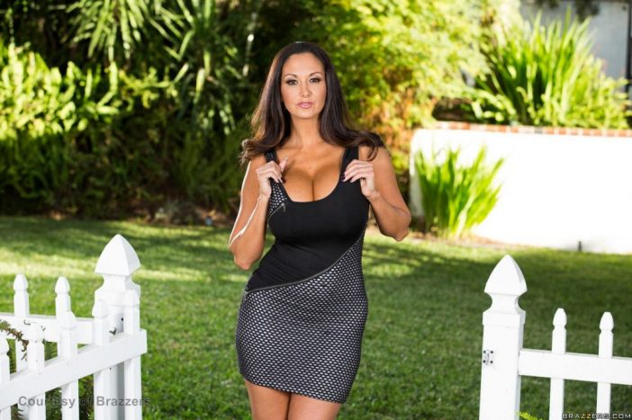 Ava Addams Huge Tits Hanging Out at the Garden Gate