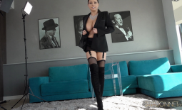 Ewa Sonnet Huge Tits and Sexy Stockings and Suspenders
