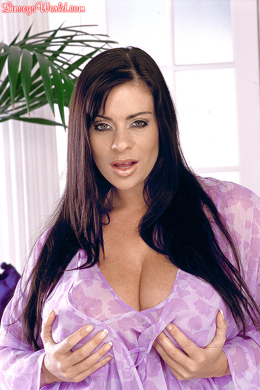 Linsey dawn McKenzie Huge Tits  in Seethrough Pink Dress