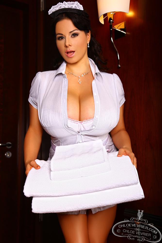 Chloe Vevrier Busty Hotel Maid