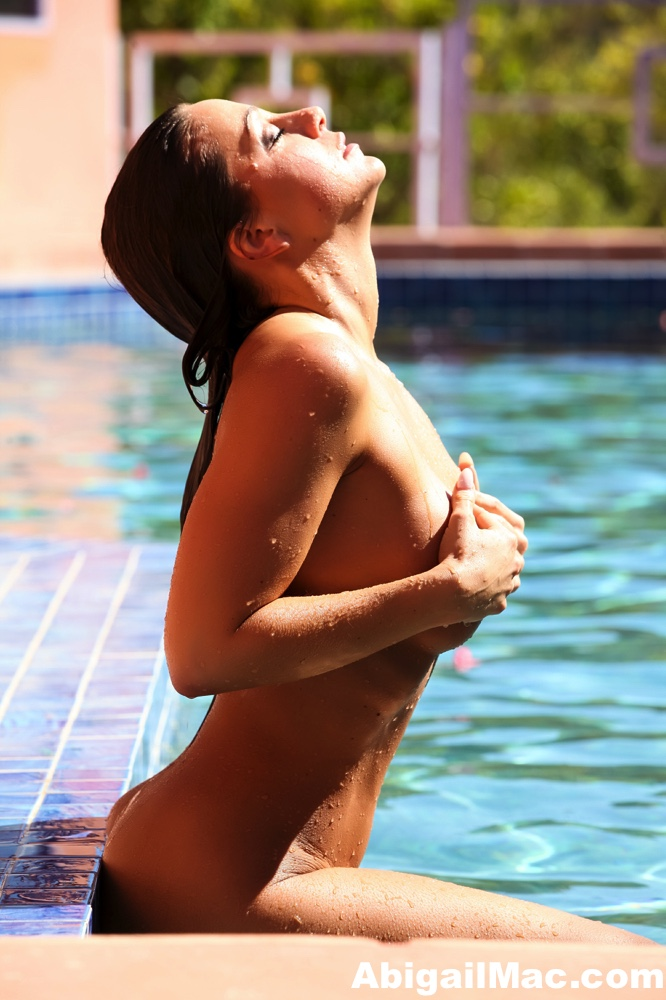 Abigail Mac Big Tits Naked Pool Time