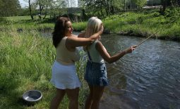 Aneta Buena and Ines Cudna have Huge Tit Fun by the River
