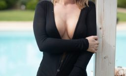 Brooke Big Tits in Little Black Dress for Photodromm