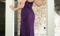 Danielle FTV Big Tits in Slinky Purple Dress