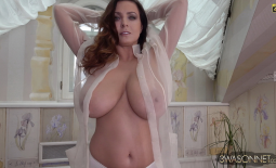 Ewa Sonnet Huge Tits in Seethrough Shirt