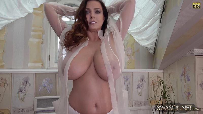 Ewa Sonnet Huge Tits in Seethrough Shirt