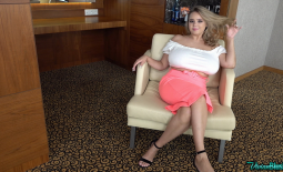 Vivian Blush Huge Tits and a Peach Skirt