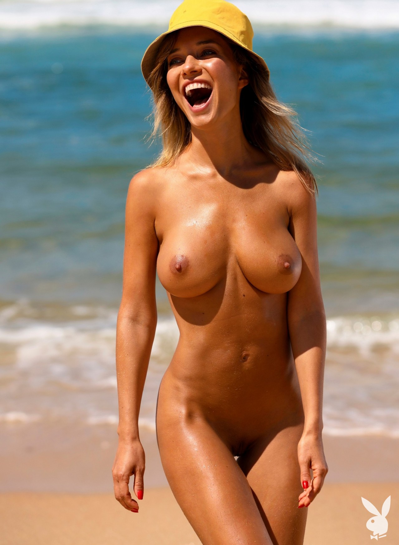 Natalia Andreeva Big Tits Go to the Beach for Playboy