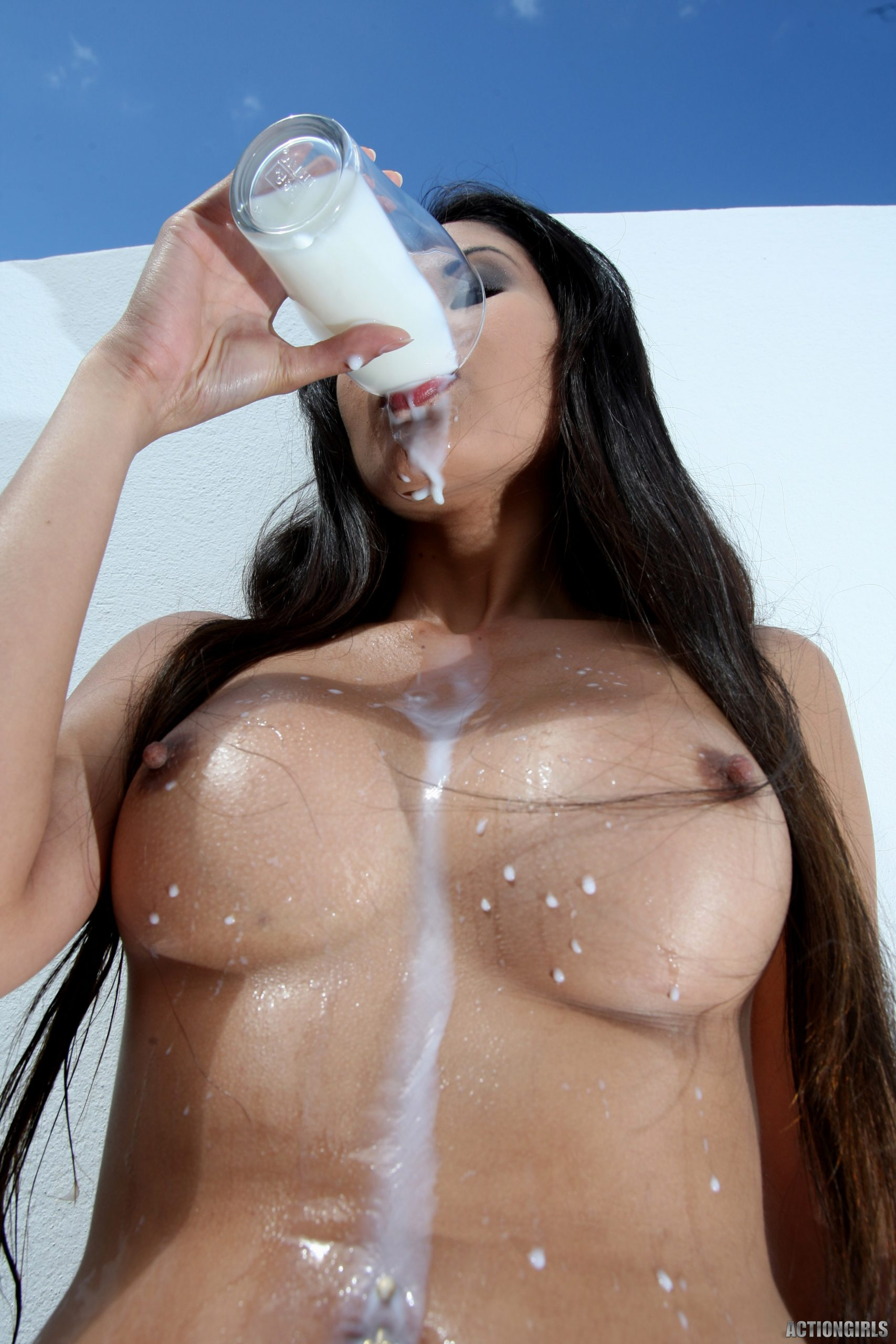 Danika Big Tits Get Milky for Actiongirls