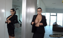 Ewa Sonnet Huge Tit Secretary with no Bra