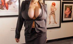 Chloe Vevrier Huge Boob Art Gallery Hostess