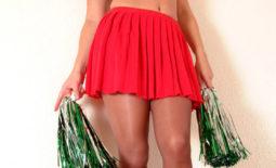 Adele Stephens Big Boobs Cheerleader Pom Poms