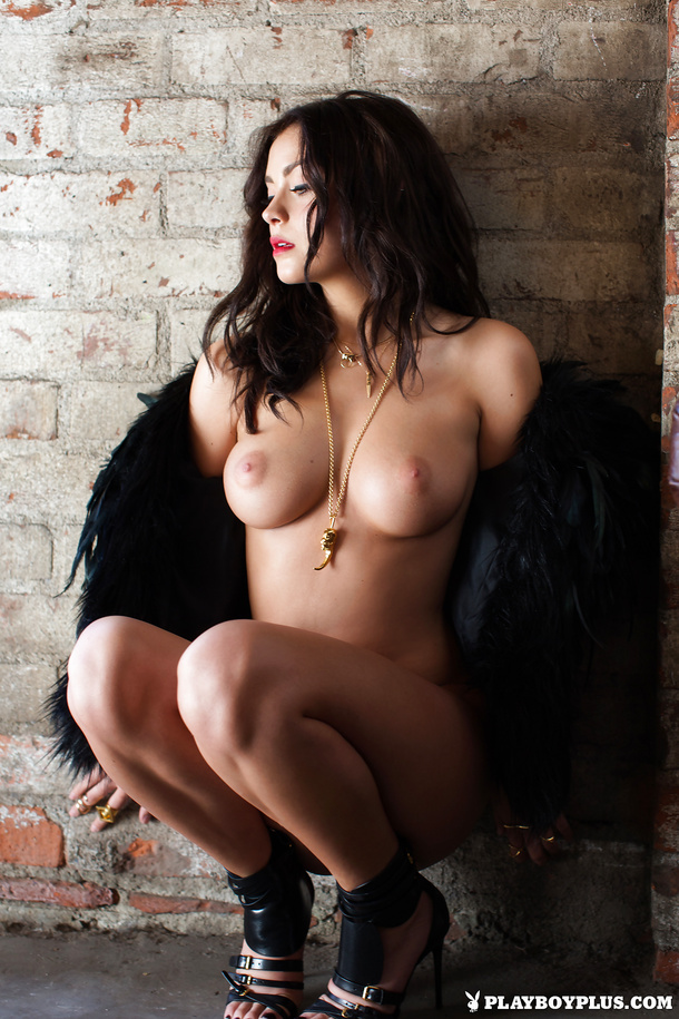 Alexandra Tyler Tits in Black Fur