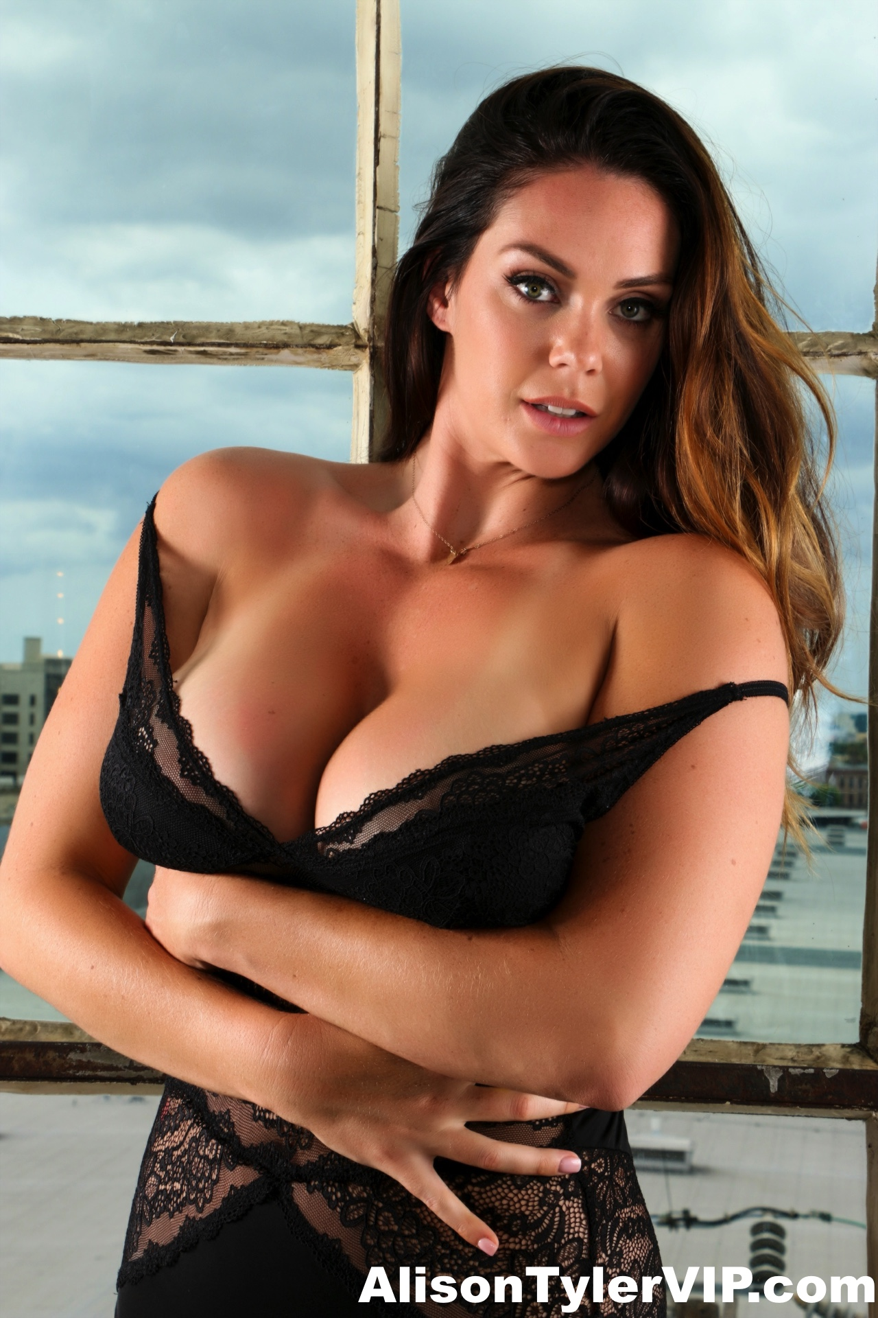 Alison Tyler Big Boobs and Black Lingerie