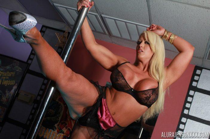 Alura Jenson Big Tit Strong Pole Dancing Girl