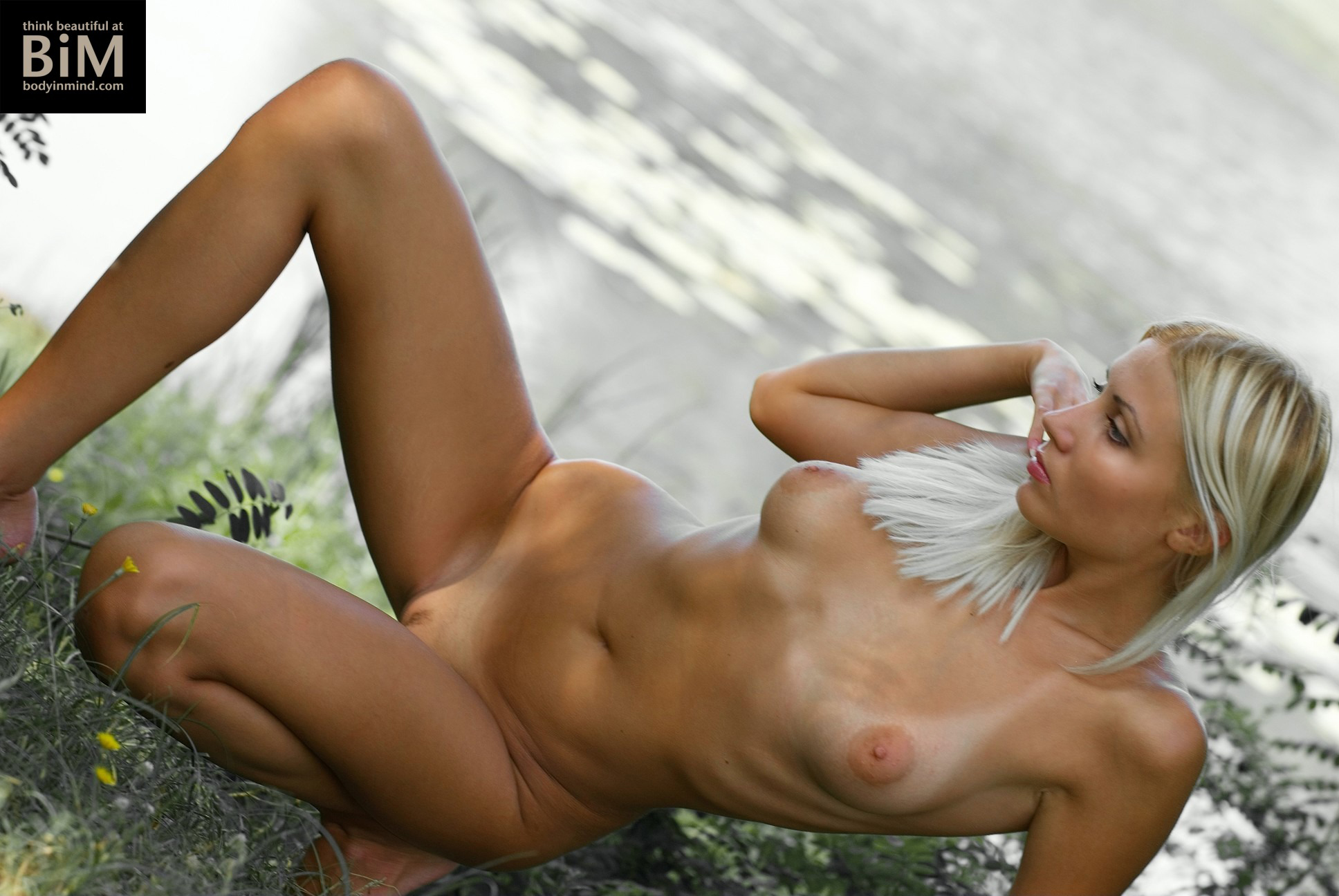 Amima Naked Boobs in Nature for Body in Mind