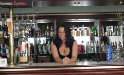 Aneta Buena Huge Tit Barmaid Gets them Out