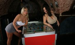 Aneta Buena & Ines Cudna in Huge Naked Tit Fussball Game